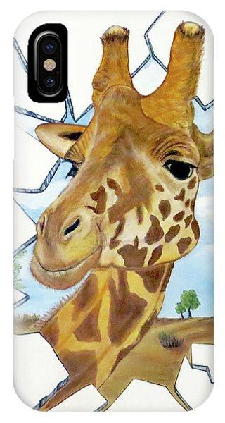 Gazing Giraffe IPhone Case