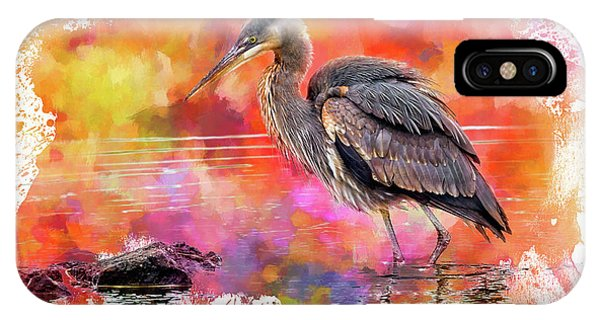 Avian iPhone Case - Great Blue  Heron  Early Bird by John Williams