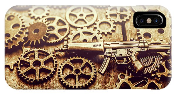 Working iPhone Case - Gear Of Weapon Design by Jorgo Photography - Wall Art Gallery