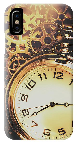 Inside iPhone Case - Gears Of Time Travel by Jorgo Photography - Wall Art Gallery