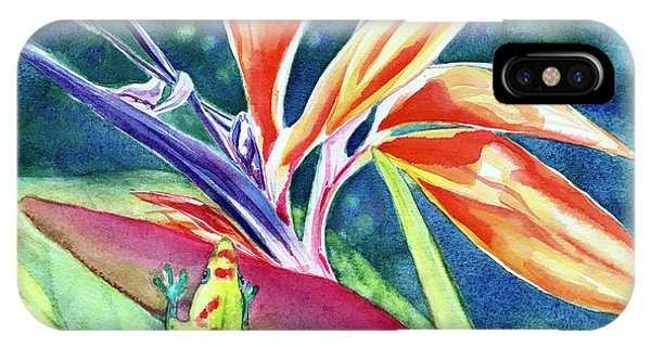 Gecko On Bird Of Paradise IPhone Case