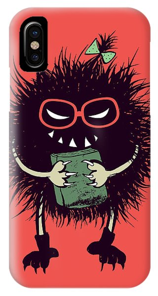 Geek Evil Bug Character Loves Reading IPhone Case