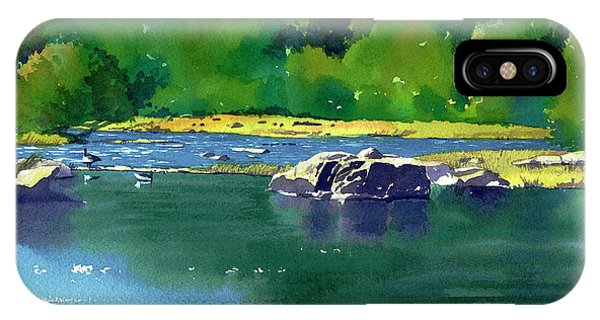 Geese On The Rappahannock IPhone Case