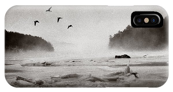 IPhone Case featuring the photograph Geese Over Great Bay by Wayne King