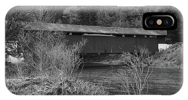 Geiger Covered Bridge B/w IPhone Case