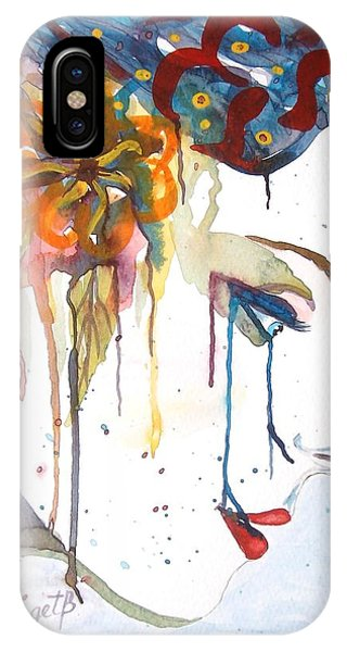 Geisha Soul Watercolor Painting IPhone Case