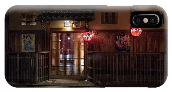 Geisha Tea House, Gion, Kyoto, Japan IPhone Case