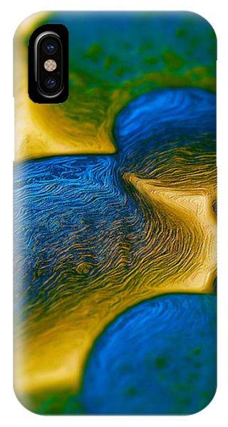 IPhone Case featuring the digital art Gene Pool Blue by ISAW Company