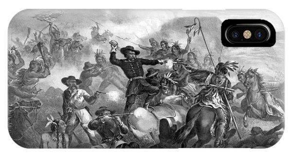 General Custer's Death Struggle  IPhone Case