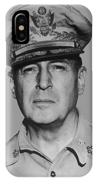 American West iPhone Case - General Douglas Macarthur by War Is Hell Store