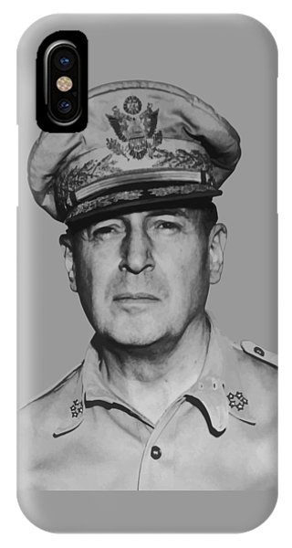World War Two iPhone Case - General Douglas Macarthur by War Is Hell Store