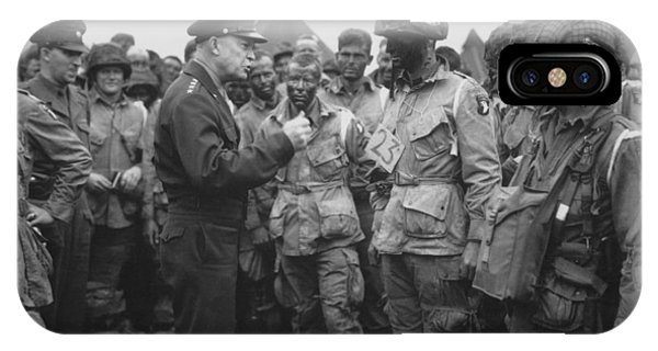 Patriot iPhone Case - General Eisenhower On D-day  by War Is Hell Store