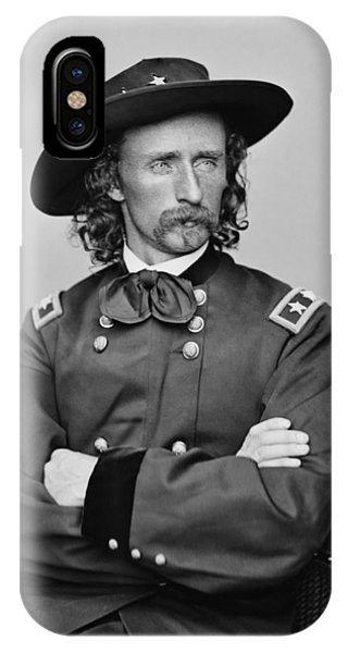 George iPhone Case - General George Armstrong Custer by War Is Hell Store