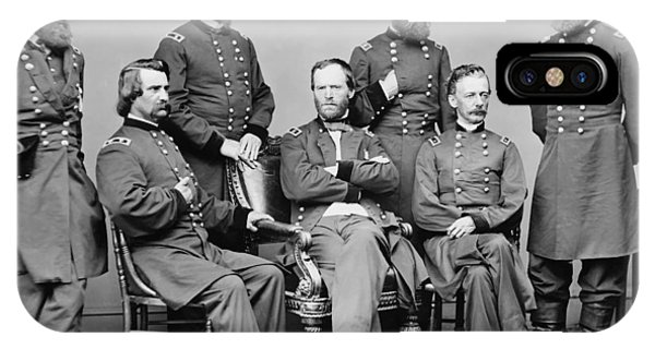 March iPhone Case - General Sherman And His Staff  by War Is Hell Store