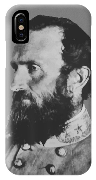 Hero iPhone Case - General Stonewall Jackson Profile by War Is Hell Store