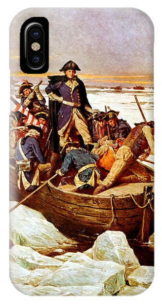 George Washington iPhone Case - General Washington Crossing The Delaware River by War Is Hell Store