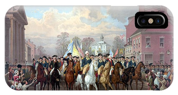 Washington iPhone Case - General Washington Enters New York by War Is Hell Store