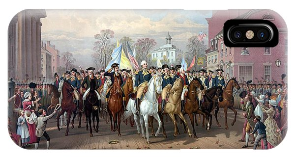 Patriot iPhone Case - General Washington Enters New York by War Is Hell Store