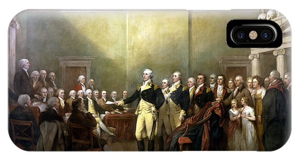 Army iPhone Case - General Washington Resigning His Commission by War Is Hell Store