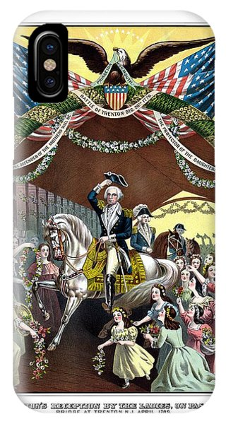 George iPhone Case - General Washington's Reception At Trenton by War Is Hell Store