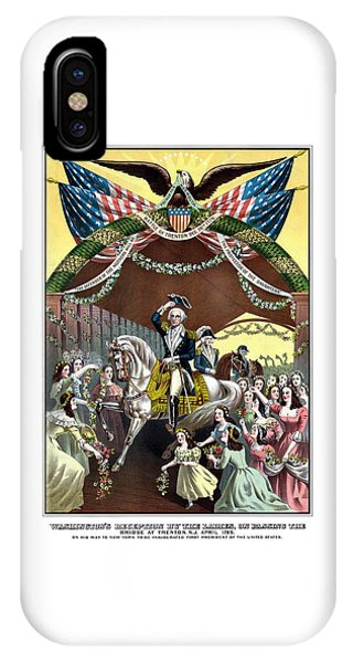 George Washington iPhone Case - General Washington's Reception At Trenton by War Is Hell Store