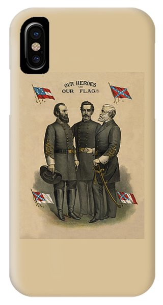 Patriots iPhone Case - Generals Jackson Beauregard And Lee by War Is Hell Store