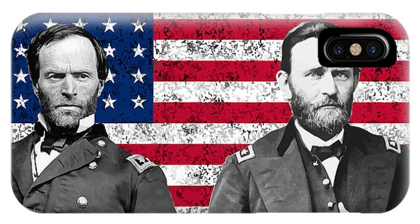March iPhone Case - Generals Sherman And Grant  by War Is Hell Store