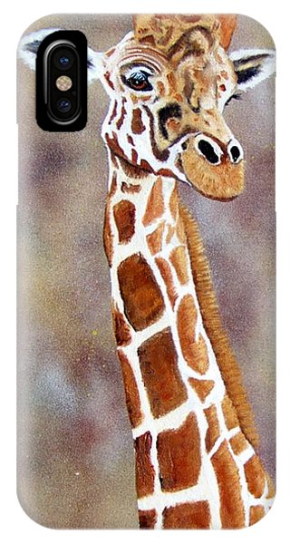 Giraffe iPhone Case - Gentle Giraffe by Debbie LaFrance