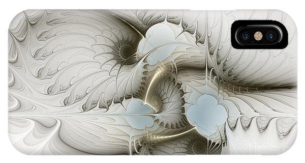 Fractal Geometry iPhone X Case - Gentle Hints by Karin Kuhlmann