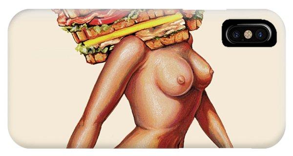 Bacon iPhone Case - Gentlemen's Club by Kelly Gilleran