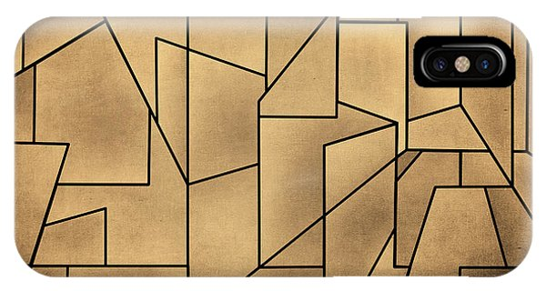 IPhone Case featuring the digital art Geometric Abstraction IIi Toned by David Gordon