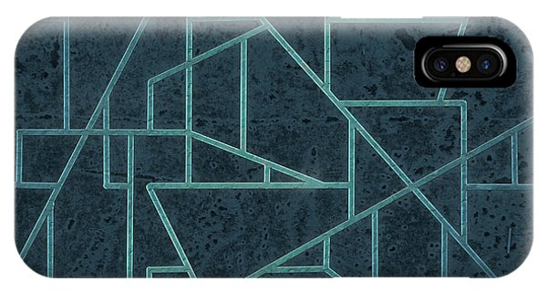 Geometric Abstraction In Blue IPhone Case