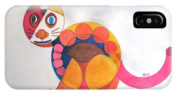 Geometric Cat IPhone Case