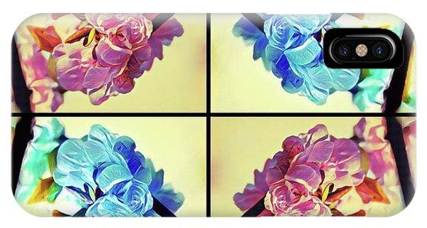 Geometric Cherry Blossoms IPhone Case