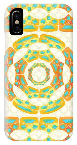 Autumn iPhone X Case - Geometric Composition by Gaspar Avila