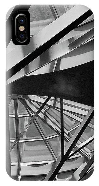 Geometry In Black And White Phone Case by Winnie Chrzanowski