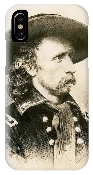 George iPhone Case - George Armstrong Custer  by War Is Hell Store