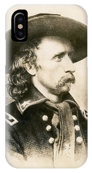 Cavalry iPhone Case - George Armstrong Custer  by War Is Hell Store