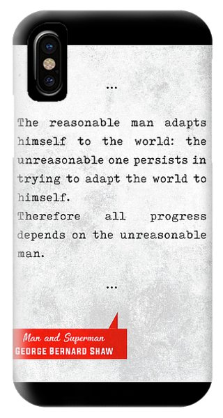 George Bernard Shaw Quotes - Man And Superman - Literary Quotes - Book Lover Gifts - Typewriter Art IPhone Case