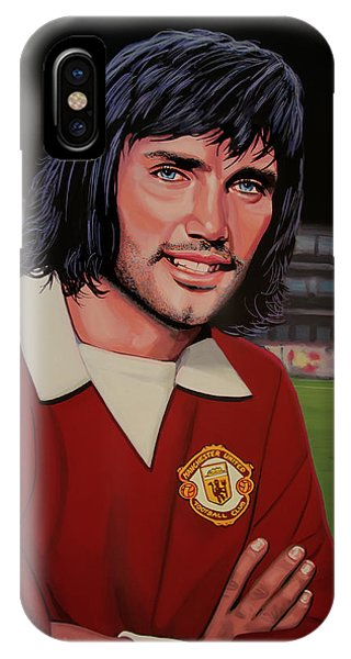 Aztec iPhone Case - George Best Painting by Paul Meijering