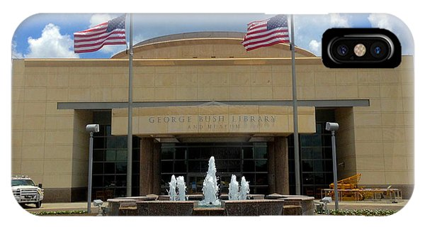 George Bush iPhone Case - George Bush Library And Museum by Art Spectrum
