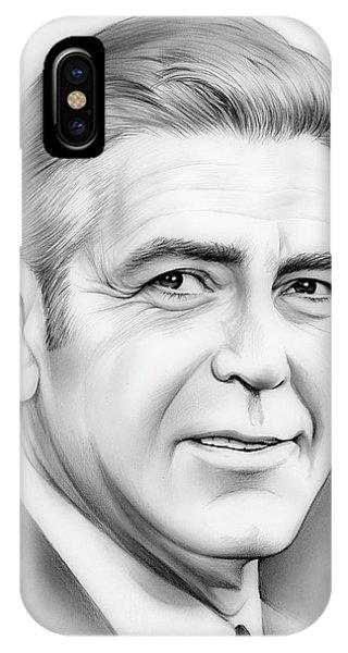 George iPhone Case - George Clooney by Greg Joens