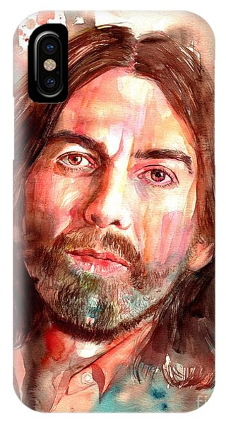 Harrison iPhone Case - George Harrison Portrait by Suzann Sines