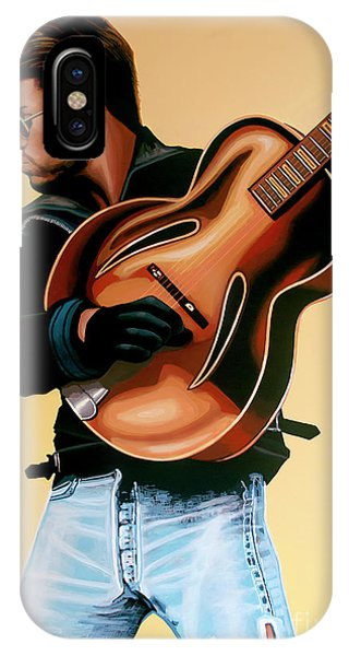 George iPhone Case - George Michael Painting by Paul Meijering