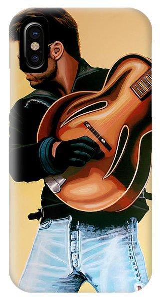 Popstar iPhone Case - George Michael Painting by Paul Meijering