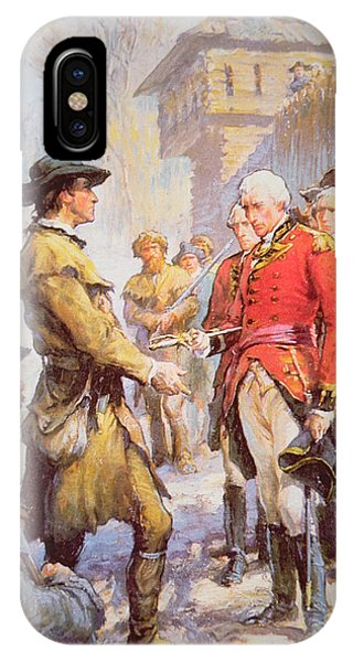 George Rogers Clark Accepts The Surrender Of British Commander Henry Hamilton At Fort Sackville IPhone Case