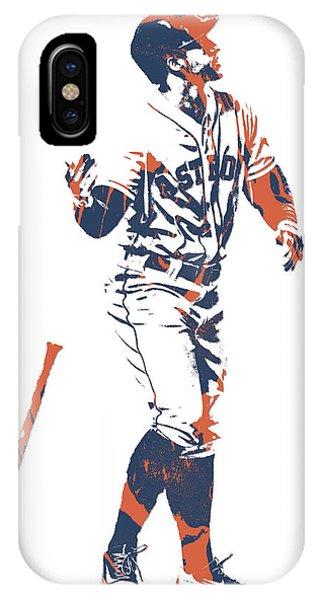Ball iPhone Case - George Springer Houston Astros Pixel Art 12 by Joe Hamilton