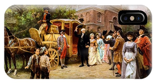 Washington iPhone Case - George Washington Arriving At Christ Church by War Is Hell Store