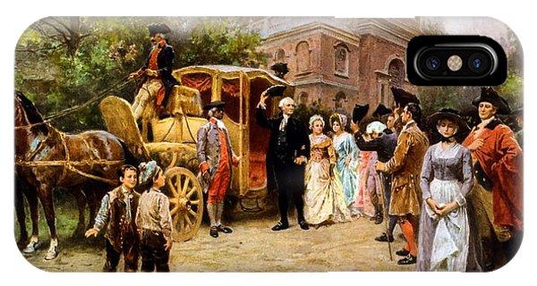 George Washington Arriving At Christ Church IPhone Case