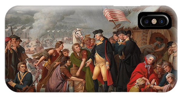 Harrison iPhone Case - George Washington At Valley Forge by Tompkins Harrison Matteson